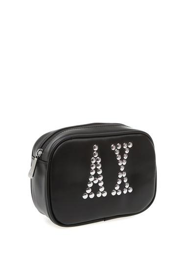 Armani Exchange Armani Exchange Logo Baskılı Bel Çantası Siyah